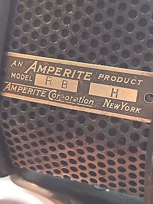 Gorgeous WORKING 1930's Vintage Amperite RBH ribbon microphone