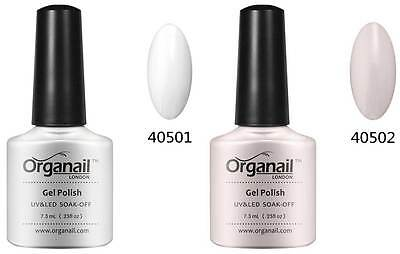 2X Vernis a ongle semi-permanent Blanc white + Rose French Manucure.
