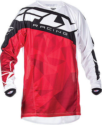 Fly Racing Kinetic Crux Red ATV MX Motocross Offroad Motorcycle Riding Jersey