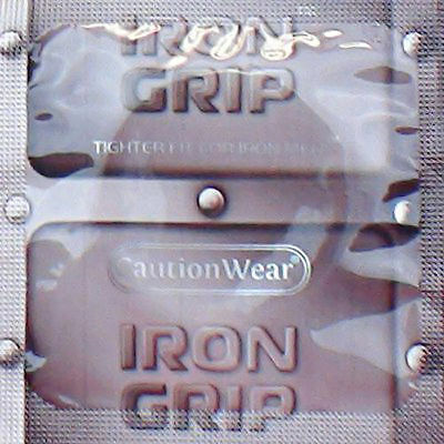 Caution Wear Iron Grip Snugger Fit Silicone-Based Lubricated Condoms 36-Pack