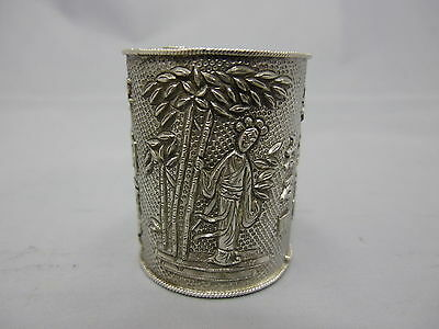 Antique chinese export silver opium box