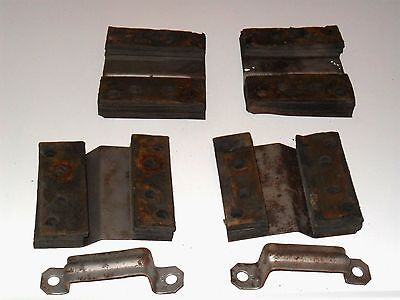 1957 1958 57 58 Cadillac Front Bench Seat Track Floor Mount Brackets Spacers