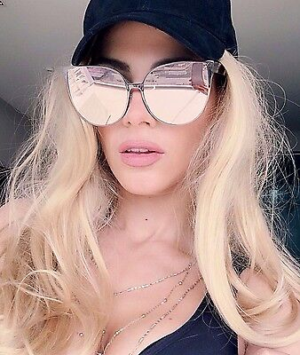 """BARBIE"" Pink Princess Metal Cat Eye Oversized Mirror Lens Women Sunglasses ASTR"