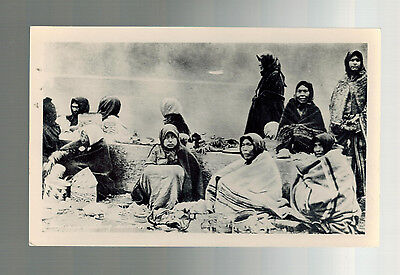 Vintage Real Picture Postcard Native American Indian Women Selling Curios RPPC