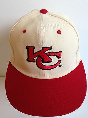 Kansas City Chiefs Vintage Red/Cream New Era 5950 Pro Model Team NFL Cap Size 7