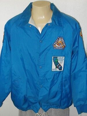 Vintage Snap Button Jacket With Assorted Knights Of Columbus Patches Men Xl