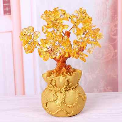 Large A+++ Lucky tree!!! Natural pretty citrine yellow crystal gem tree