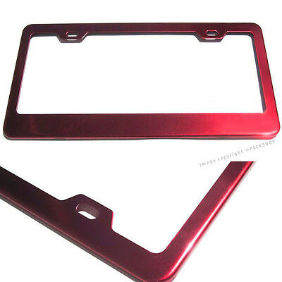 for lexus lincoln lotus maserati mazda red stainless steel license plate frame