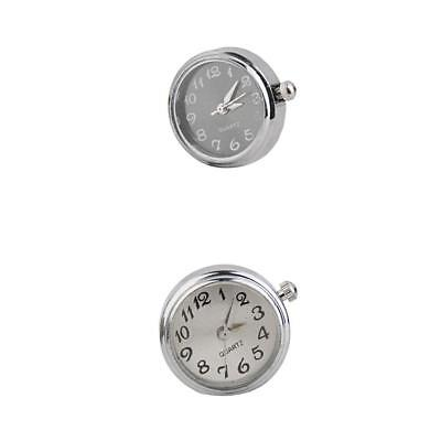 2pcs Fit Noosa Style Watch Face Snap Click Buttons Round Charms DIY Jewelry