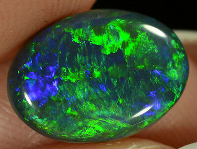 Black Opal Australian natural solid 1.60 ct EXTREMELY bright stunning rare gem