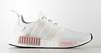 ADIDAS NMD US UK 3 4 5 6 7 8 9 .5 WHITE PINK ICEY ICY WOMENS R1 BY9952 RAW BEIGE | eBay