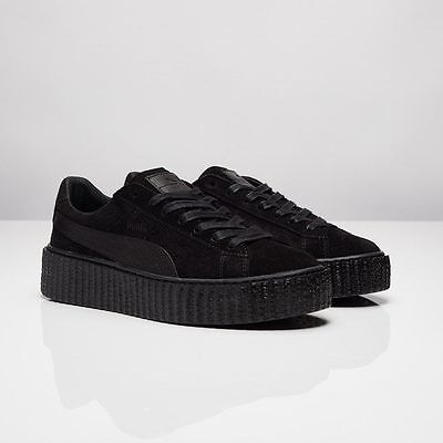 pretty nice cb6c9 5a74c PUMA X RIHANNA Fenty Suede Creepers Satin Triple Black All 362268 01 Women  & Men