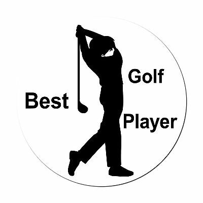"10cm 3.9"" Best Golf Player Wall Door Window Room Car Bumper Decor lot Stickers"