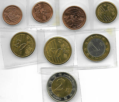 Guadeloupe 2005 Lot Of 8 Unc Coin