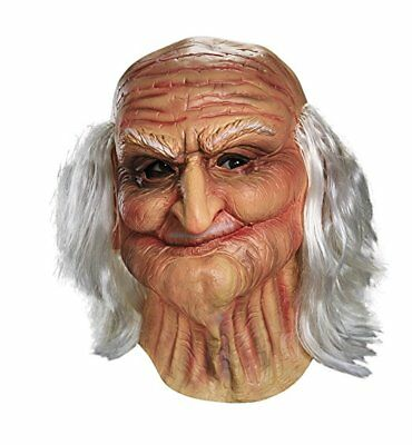 Old Man Mask Adult Oldie Guise Halloween Creepy Funny Grandpa Realistic Costume
