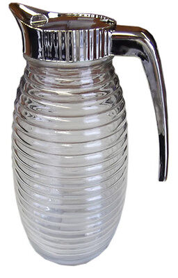 Clear Glass Jug with Lid Handle Fridge Jug Milk Cream Juice Water Jugs Kitchen