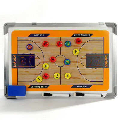 Double Side Basketball Coaching Tactical Board Dry Erase Pen Magnet Marker Kit