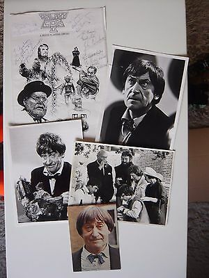 Patrick Troughton Doctor Who Signed Autograph Postcard, 3 Photos & GalaxyCon Art