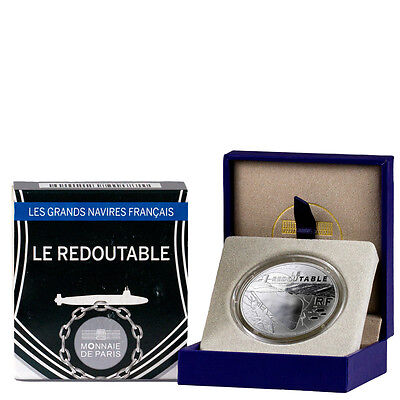 2014 France 10E Proof Silver Great French Ships - Le Redoutable In OGP SKU43365