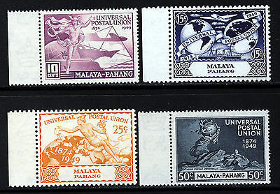 PAHANG MALAYA 1949 75th. U.P.U. Anniversary Set SG 49 to SG 52 MNH