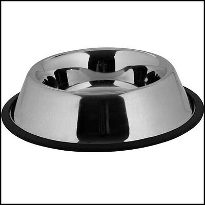 Non Slip 12Cm Stainless Steel Cat Puppy Dog Pet Bowl Dish Water Food Feeding