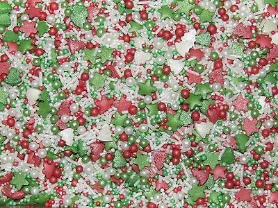 Christmas Tree & Star  Sprinkletti Sprinkles Confetti Cupcake Cake Decorations