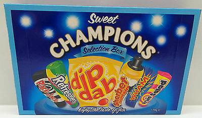 Sweet Champions Selection Box -Retro Sweets -Great Christmas Gift-Birthday Treat