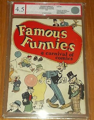 Famous Funnies A Carnival Of Comics Egc Restored ( 4.5 ) Off/w Pgs Euro Grader