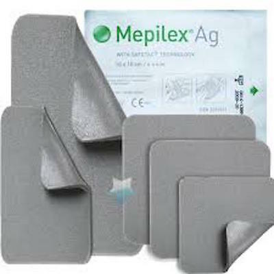 Mepilex Border Ag silver dressings x 5,CHOOSE DRESSING SIZE,adhesive,latex free