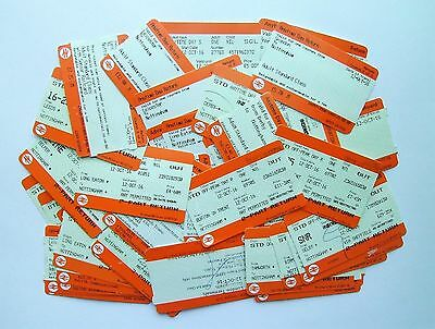 RAILWAYANA - Collection of 50 Used Railway Tickets - British Rail/National Rail
