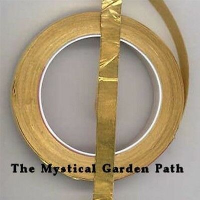 """16FT Gold Brass Foil Tape 1/4"""" Self Adhesive Metal Tape *For Jewelry & Altered"""