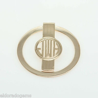 Estate Vintage Tiffany & Co. Round 1 ¾ Inches Money Clip 14K Yellow Gold