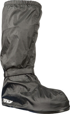 Fly Street Black Waterproof Nylon Motorcycle Riding Rain Gear Boot Covers