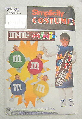 M&M Candy Sewing Patterns Baby Child Simplicity 7835 Halloween