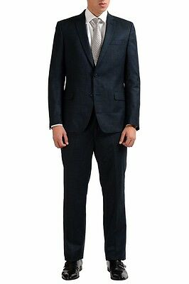 Versace Collection 100% Wool Gray Two Button Men's Suit Sz 40 42 44 46