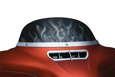 Kuryakyn Smooth Chrome Windshield Trim Accent Cover Harley Touring 2014-2018