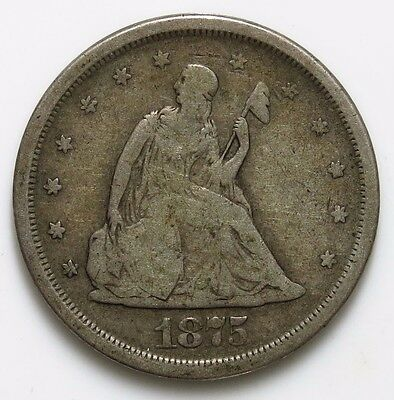 1875-S Liberty Seated 20c SIlver Coin