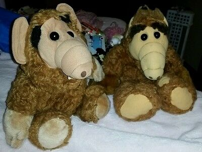 Lot of 2 Vintage Alf Alien Plush animals 1 electronic (1986) REDUCED!
