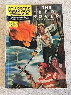 Classics Illustrated #114 The Red Rover Please See Pictures