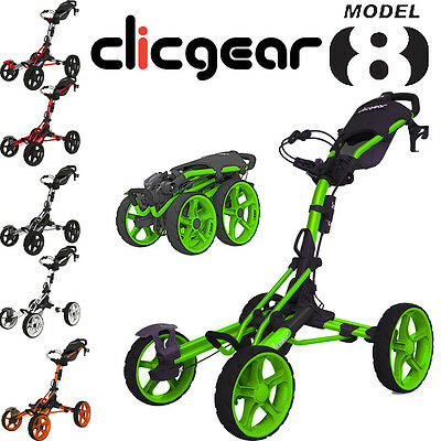 *NEW 2016* Clicgear Model 8.0 Golf Trolley Performance 4-Wheel Mens Push Cart