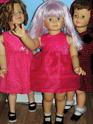 ReDuCeD  ADORABLE PINK NYLON PARTY DRESS FOR  PATTI PLAY PAL OR  SIMILAR DOLLS