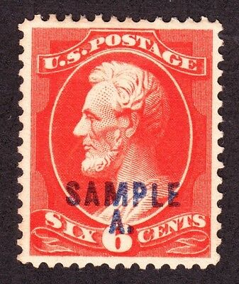 US 208SDL 6c Lincoln Sample A Specimen XF OG H SCV $75