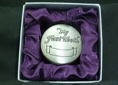 My First Tooth Pewter Keepsake Christening / New Baby / Shower Gift Boy or Girl