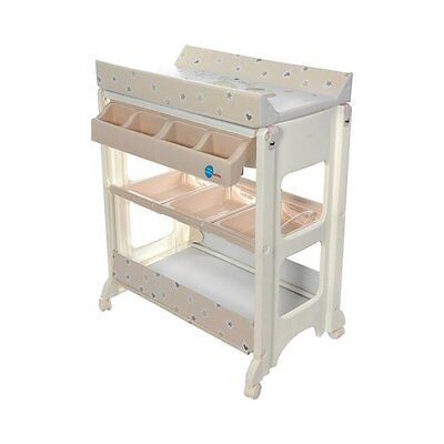 """FIRST BABY SAFETY La commode à langer """"Friends"""" table à langer NEUF blanc"""