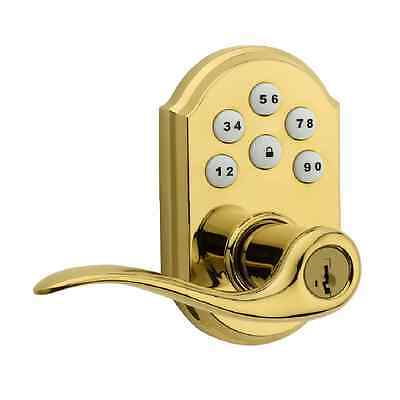 Polished Brass Universal Electronic Entry Lever Keyless Door Security Appliance