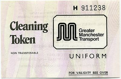 Greater Manchester Transport (GMT) uniform cleaning tokens PINK rare collectable