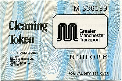 Greater Manchester Transport (GMT) uniform cleaning tokens BLUE rare collectable