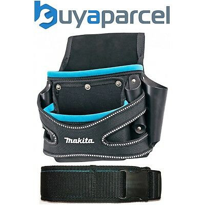 Makita Quick Release Toolbelt + 2 Pouch Holster Tool Belt Set - Black & Blue