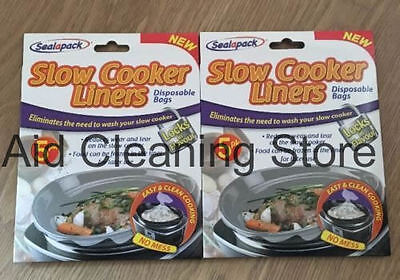 2 X Sealapack Slow Cooker Liners Pk of 5 For Round & Oval Slow Cookers