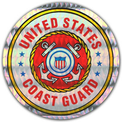 5 Pack- PinMart's U.S. Coast Guard Military Decal Sticker